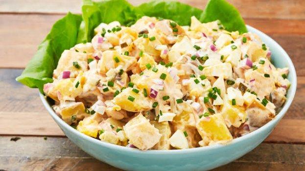 Salada de Batata com Cenoura Agridoce