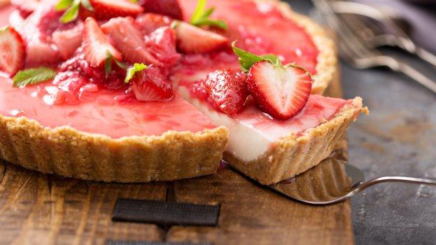 Torta de Morango com Iogurte sem Lactose