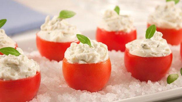 Tomatinhos Recheados com Pasta de Limão