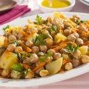 Salada de Grão-de-Bico com Cenoura e Batata