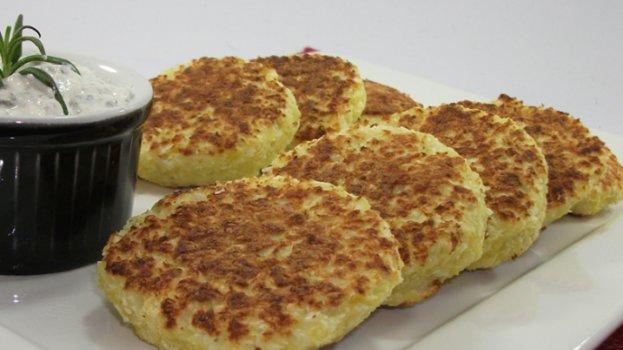 Pão de Frigideira Low Carb de Couve-Flor