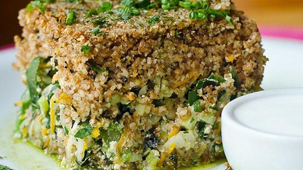 Quibe Low Carb com Brócolis