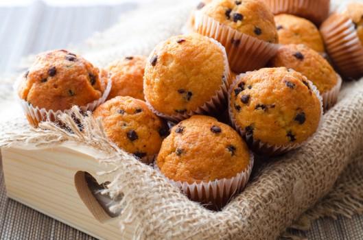Bolinhos com Pedaços de Chocolate (Muffins)