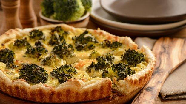 Torta de Brócolis com Couve-flor