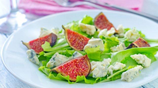 Salada de Folhas, Figo e Gorgonzola