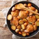 Frango Assado com Cenoura e Batatas