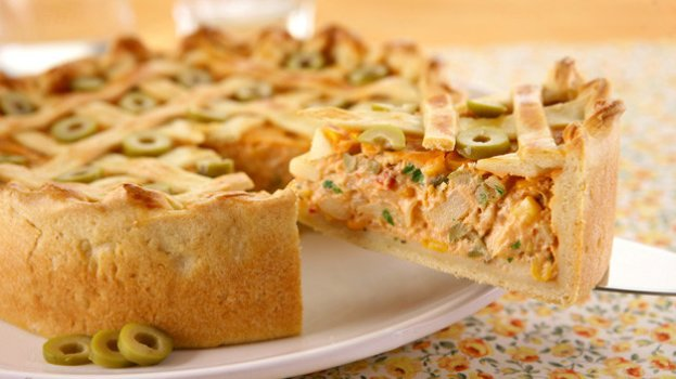 Torta de Palmito Sem Lactose