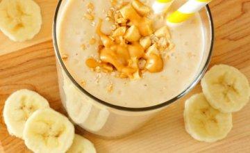 Receita de Vitamina de Banana e Pasta de Amendoim   CyberCook