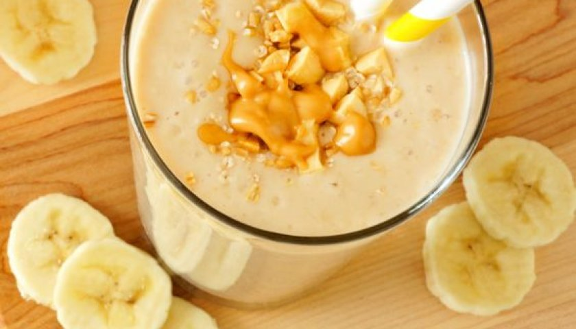 Vitamina de Banana e Pasta de Amendoim