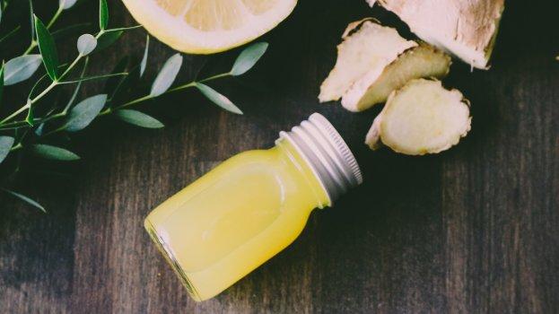 Shot de Limão com Gengibre e Cúrcuma