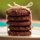 Cookies de Aveia Cacau e Nozes Vegano
