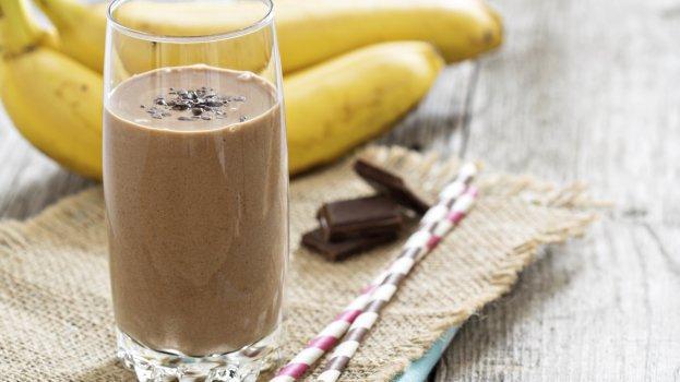 Milkshake de Banana e Cacau Vegano
