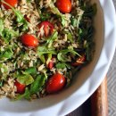 Salada de Arroz Integral e Frango