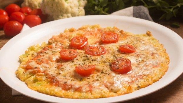 Pizza de Couve-Flor Low Carb