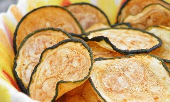 Chips de Abobrinha ao Forno
