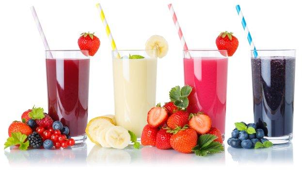 Vitamina de Iogurte e Frutas