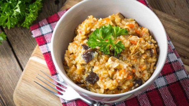 Risoto de Quinoa com Creme de Abóbora (Vegano)