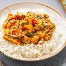 Frango ao Curry com Escarola