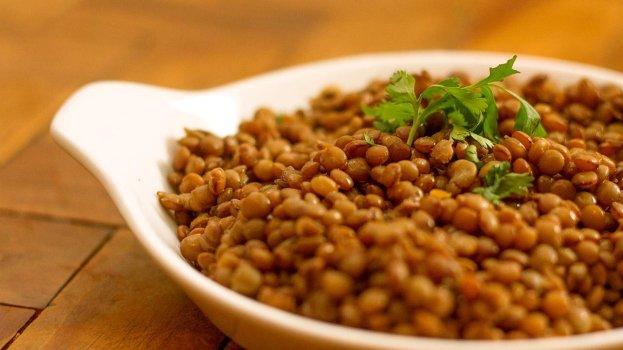 Arroz com Lentilhas e Linguiça