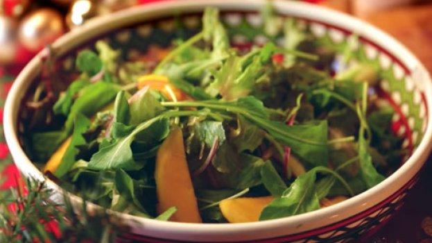 Salada Verde com Manga e Aceto Balsâmico